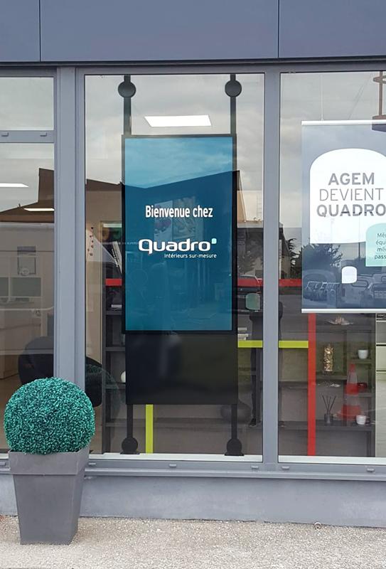 WeSmart - Affichage dynamique pour Quadro