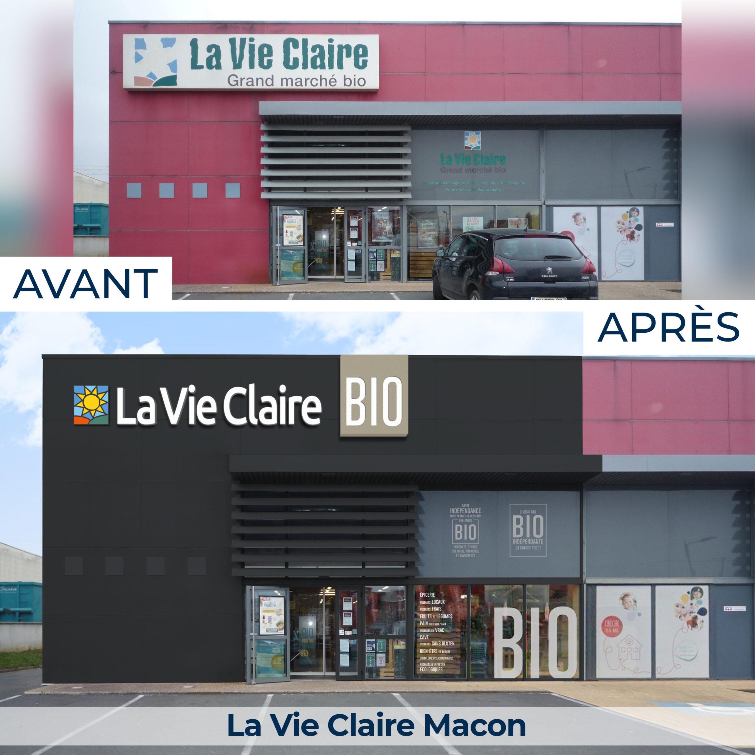 La Vie Claire Macon rénovation magasin spécialisé en alimentation bio, 2021