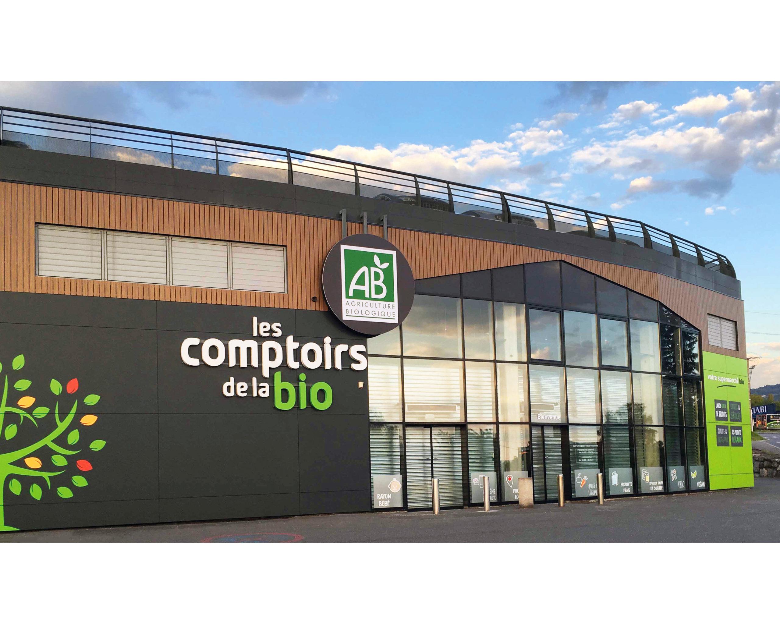 Les Comptoirs de la Bio Amanzy, magasin spécialisé en alimentation bio et local